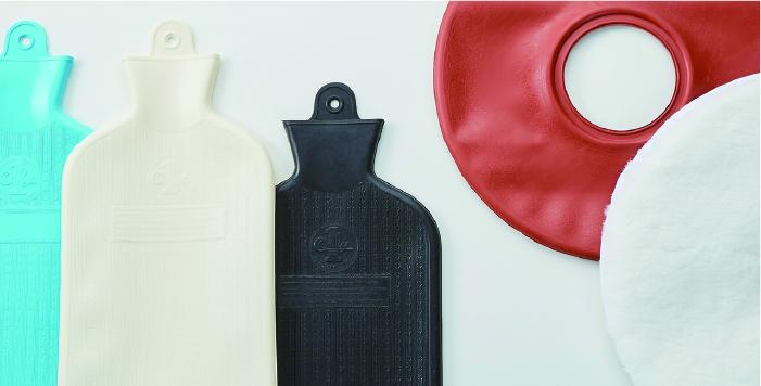 左から/オンリーワンシリコーン水枕3種、バイエル社製特殊バット使用カバーのオンリーワンエアークッション